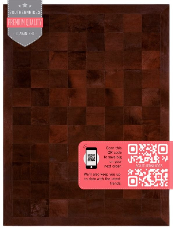 Solid Brown Cowhide Patchwork
