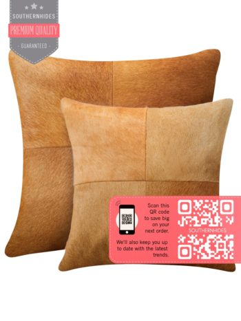 Four Patch Cowhide Pillow