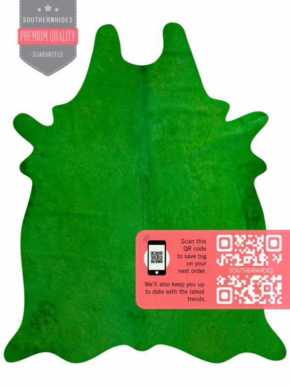 Green Cowhide Rug