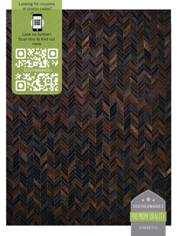 Charcoal Patchwork Rug