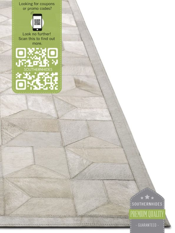White Seattle Patchwork Rug