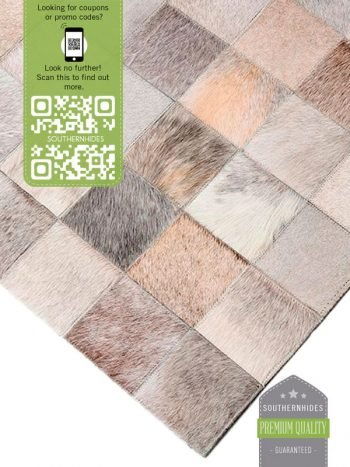 Simple Design Cowhide Rug - Runner Rug