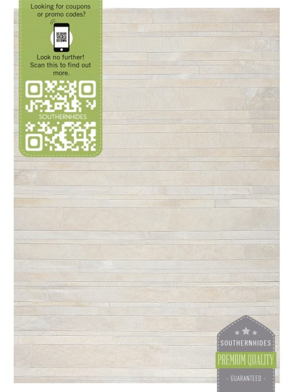 Striped White Patchwork Rug