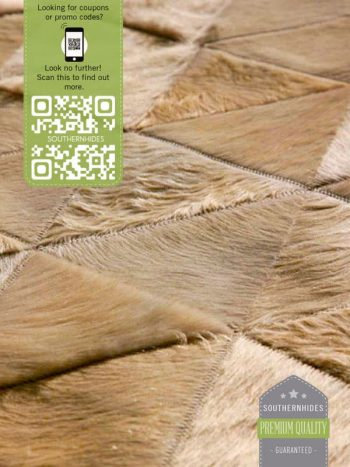 Triangles Cowhide Rug - Triangle Pattern