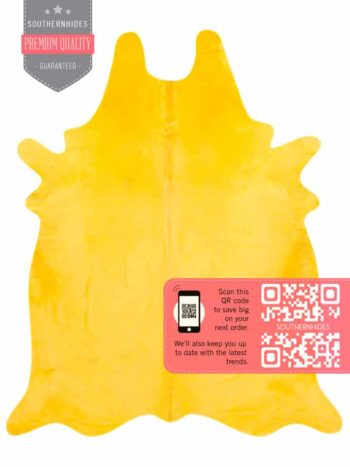 Yellow Cowhide Rug
