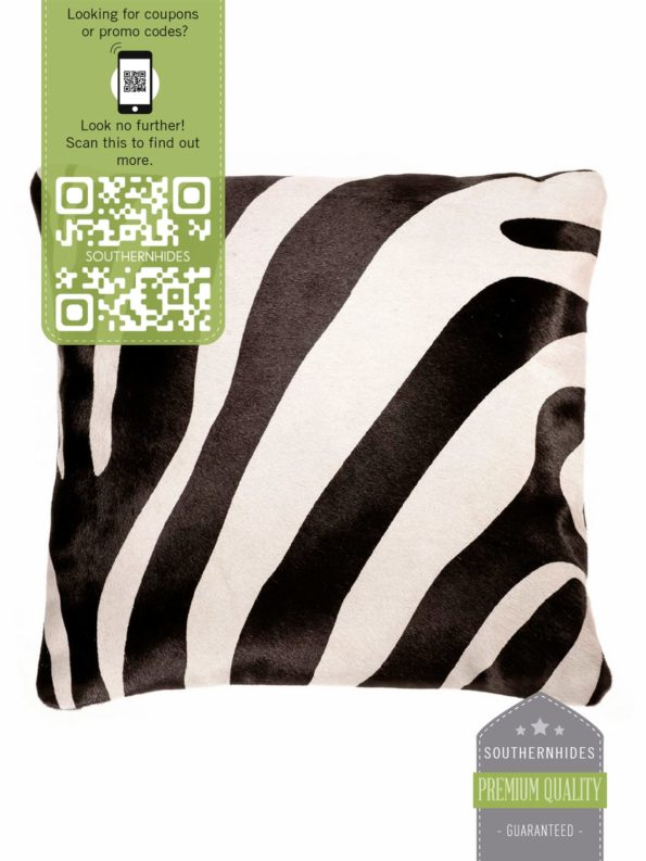 Zebra Cowhide Pillow